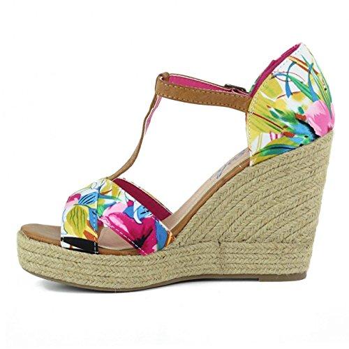 Chaussures compensées pour Femme REFRESH 61756 TEX FUCSIA