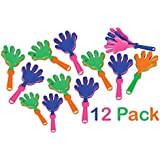 """7.5"""" Plastic Hand Clappers - 12 Pack Assorted Colors – Party Favors - Toy For Kids – Noise Makers – By Katco"""