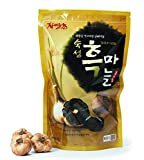 Joy Natural Fermented Black Garlic Whole Bulbs, Packed in air tight resealable zip bag, Fermented and Packed in Korea, 250 g