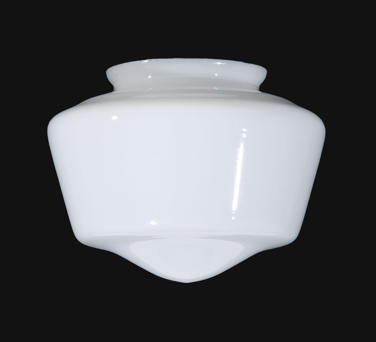 B&P Lamp 7'' Opal Schoolhouse Shade
