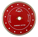 Grip Tight Tools Professional Quality Turbo Cut Diamond Blade For Concrete, Granite and Marble, 4-Inch (Wet/Dry)