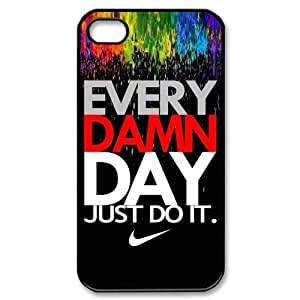 Custom Your Own Personalised Hard Just Do It iPhone 4/4S Cover , Snap On Just Do It iPhone 4/4S Case