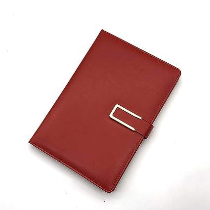 Cuaderno ejecutivo con rayas y tapa de piel tamaño A5 con ...