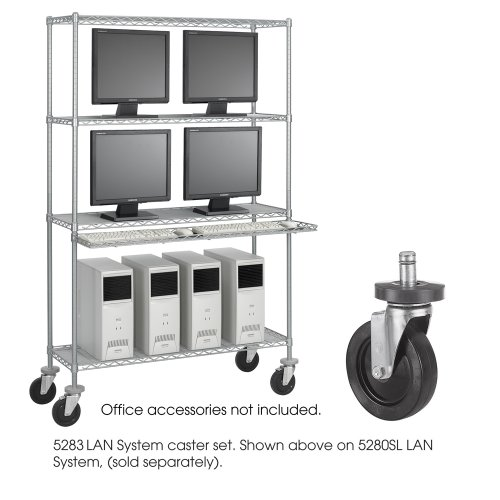 SAF5283 - Safco Optional Caster Kit for Wire Shelving ()