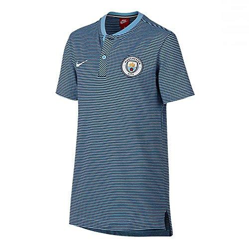Cheap 2017-2018 Man City Nike Authentic Grand Slam Polo Shirt (Field Blue) - Kids for sale