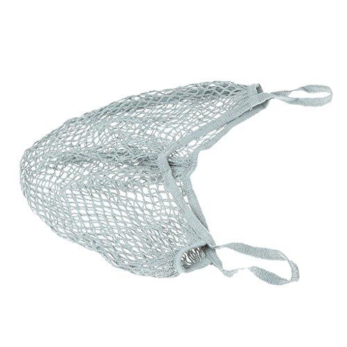 Beutel Bio-Baumwolle String-Shopping Wieder Verwendbaren Kurzen Griff Tasche Rauchiges Grau Netz Wz7mkoWzZ
