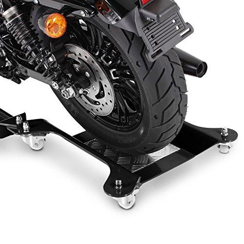 Motorrad Rangierschiene Suzuki Intruder VS 1400 Schwarz Rangierwagen Rangierhilfe Seitenst/änder Hinterrad ConStands Motomover II