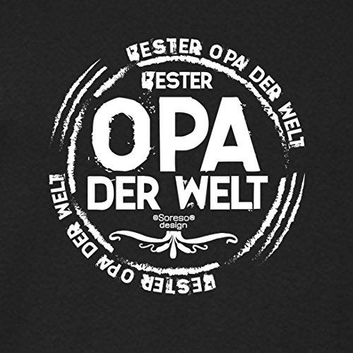 Großvater Fun-T-shirt als Top Geschenk mit GRATIS Urkunde - Bester Opa der Welt Farbe: schwarz Gr: XXL
