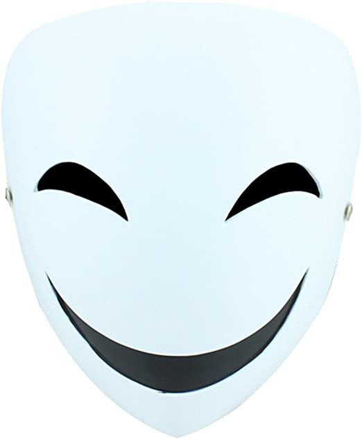 YUFENG Resin Masks Halloween Collector Props The Film Theme Black Bullets Hiruko Smiley Mask (Hiruko smile mask)