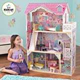 16-Piece Furniture Annabelle Wooden Dollhouse With Sturdy medium-density fiberboard and plastic construction