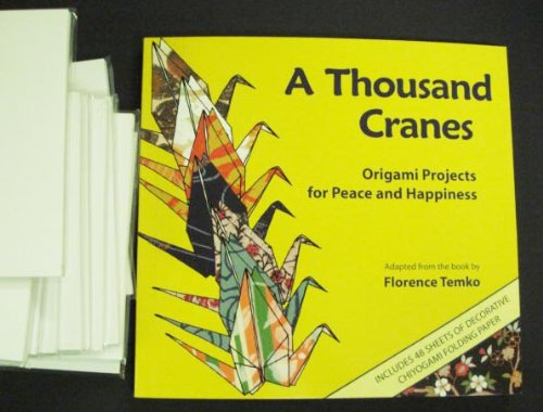 Thousand Cranes Book with 1050 sheets of White Origami Paper by Unknown