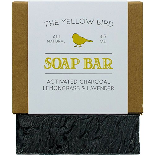 Activated Charcoal Soap Bar. All Natural Detoxifying Face & Body Cleanser. Certified Organic Ingredients. Paraben & Sulfate Free. For Acne, Eczema, Psoriasis, Rosacea, Dry Sensitive Skin Lemongrass Moisturizing Bar Soap
