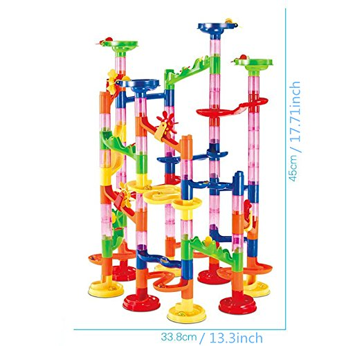 U.WILL Marble Run Toy - 105 Pcs Marble Game STEM Learning Toy, Educational Construction Building Blocks Toy, Marble Set Gift for Kids 4 5 6 + Year Old Boys Girls by U.WILL (Image #1)