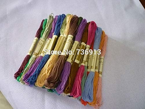 - Maslin 100% Pure Cotton 50 Pieces Different Colors Embroidery Cross Stitch Floss Thread Yarn