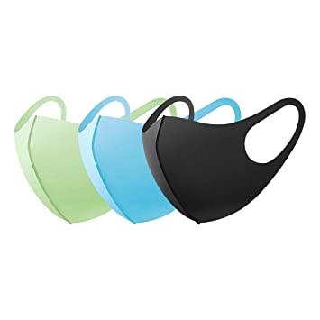 Outdoor Anti Haze//Dust//Fog Protective Face Mouth Sponge Earloop Mask Black