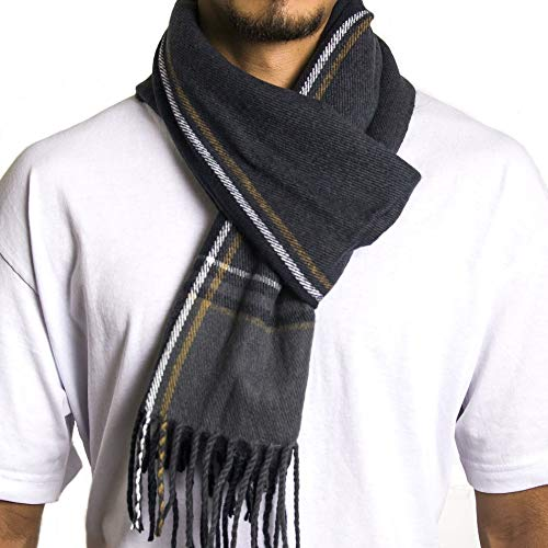 Alpine Swiss Mens Plaid Scarf Soft Winter Scarves Unisex,Dusk Plaid,One Size (Christmas Gifts For Best Unisex)