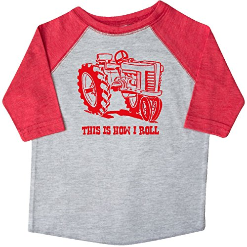 Farm Equipment T-shirt - inktastic This is How I Roll Tractor RED Toddler T-Shirt 2T Heather and Red