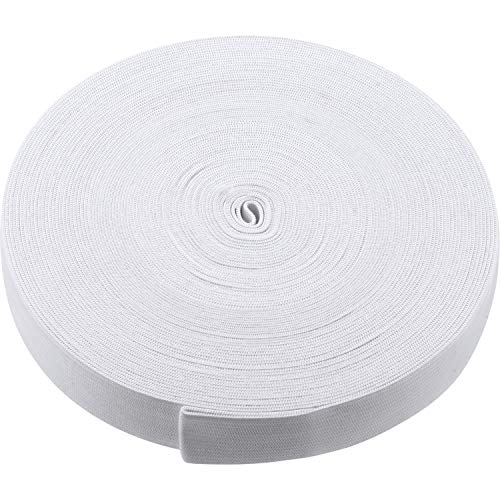 (White Knit Elastic Spool (1 Inch x 22 Yard) )