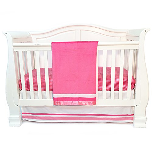 Simplicity Baby Cribs - One Grace Place Simplicity Infant Crib Bedding Set, Hot Pink/Pink/White