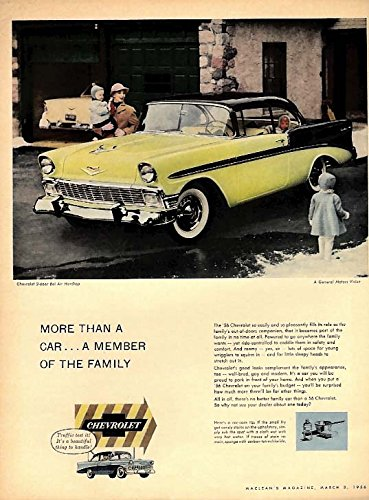 More than a car - a member of the family Chevrolet Bel Air 2dr ad 1956 (2dr Air)