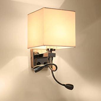 Hôtel Chaude Chambre Tissu Chevet Murale Lampe Moderne Lecture Light Applique Night ARL354j