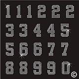 Rhinestone Diamante Crystal Iron On T Shirt Design Transfer - NUMBERS