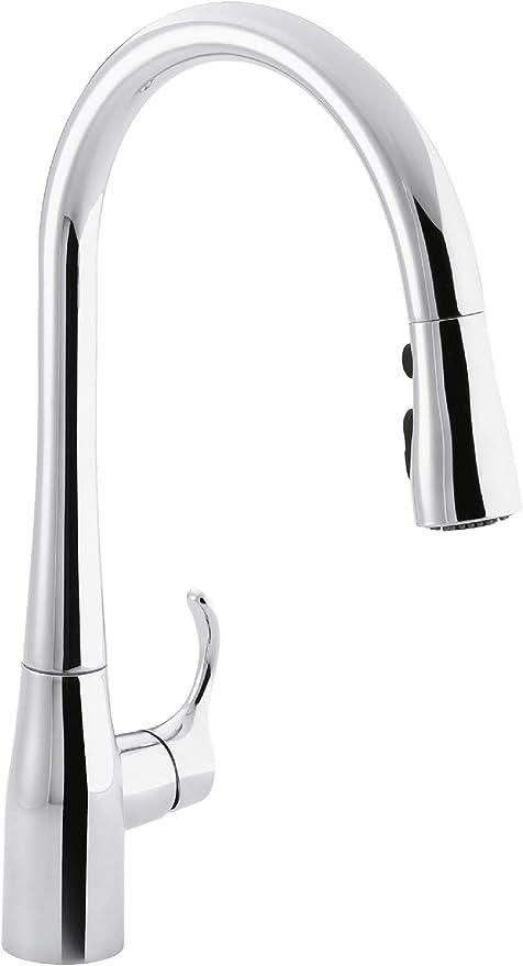 Best Pull Down Kitchen Faucet: KOHLER K-596-CP  Kitchen Faucet