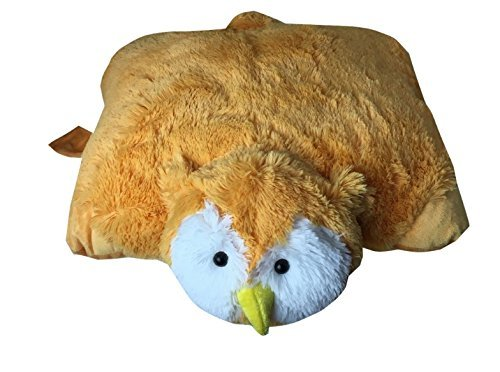 PLUSH & PLUSH® TM PET Cushion Animal Pillow Soft Stuffed Animal Collection Kids Travel Purpose (Large 18, OWL)
