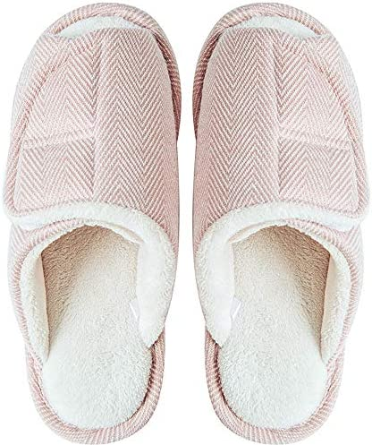 Women/'s Fuzzy Fluffy Furry Fur Slippers Flip Flop Open Toe Cozy House Memory Spa