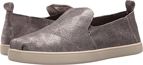 - TOMS Women's Deconstructed Alpargata Pewter Metallic Leather 9 B US