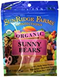 Sunridge Farms Organic Sunny Bears, Vegetarian, 7 Ounce Bag (Pack of 12)