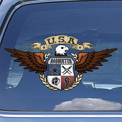 American Eagle Rodbuster Decal Sticker