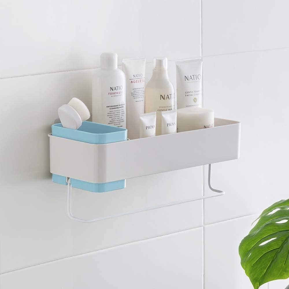 Amazon Com Bathroom Organizer Suction Shower Organizer Hanging Wall Caddy Shelves For Shower No Drilling Adhesive Blue Home Improvement