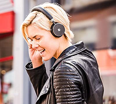 VENTURA Leather Wireless Over-Ear Headphones - Built-in Microphone - Premium Sound Quality - Compact Bluetooth Earphones by TRNDlabs