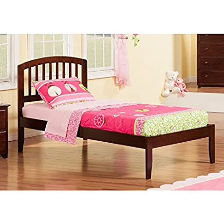 Atlantic Furniture Richmond Walnut Twin XL Open Foot Bed