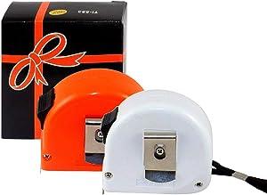2 Tape Measures, 16-ft./5 Meter, Metal Tape Displays Standard & Metric - Mix (One Orange, One White).