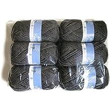 Patons Classic Wool Roving Yarn, 6-Pack (Dark Grey)