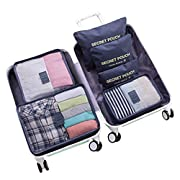 WOWTOY 6PCS Packing Cubes for Travel Luggage Organiser Bag Compression Pouches Clothes Suitcase, Packing Organizers…