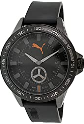 Puma Men's PU103631002 Black Silicone Analog Quartz Watch