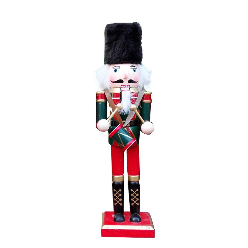 soldado cascanueces lleva traje escocés y cuadros gorro figuras de Navidad muñeca, 30cm, Barra de Escritorio de la Decoración de la Ventana