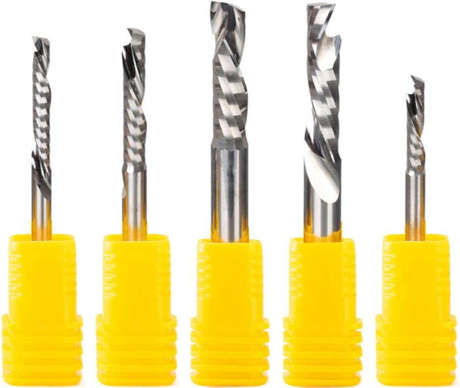 5pcs/Lot Up Down Cut 3.175/4/5/6mm AAA Solid Carbide CNC Endmill Compression Wood Tungsten One Flute End Milling Cutter Tool Bit-4x22 3.175x17
