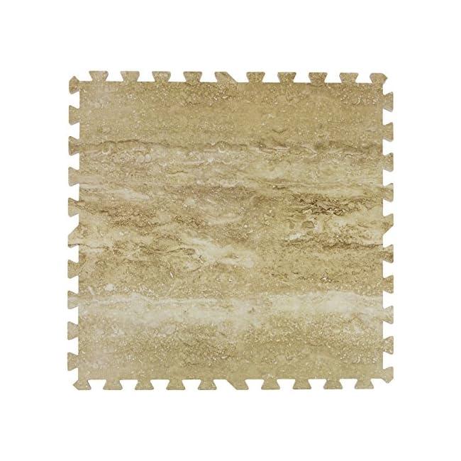 Alfombrillas de piso de grano de madera Sorbus Alfombrillas de espuma entrelazadas Azulejos de 3/8 pulgadas de espesor Alfombrilla de madera para pisos Bordes - Home Office Sala de juegos S tano Feria comercial