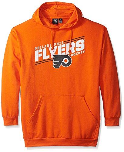 Majestic Hood Athletic (VF Philadelphia Flyers NHL Mens Majestic One Timer Pullover Hoodie Orange 4XL)
