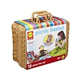 tin tea sets with basket - ALEX Pretend Picnic Basket