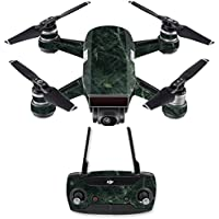 Skin for DJI Spark Mini Drone Combo - Green Marble| MightySkins Protective, Durable, and Unique Vinyl Decal wrap cover | Easy To Apply, Remove, and Change Styles | Made in the USA