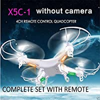 Cewaal X5C-1 Quadcopter Drone without Camera for Long Flight Time, 2.4Ghz 6-Axis Gyro 3D Flips Drone with Headless Mode Designed For Beginners