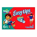 Pampers Easy Ups for Boys, Size 6, 66 Count