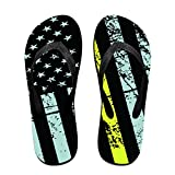 Unisex Summer 911 Dispatcher Thin Gold Line Flip Flop Shower Sandal