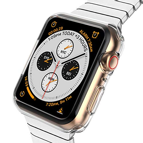 ZYTX Compatible with Apple Watch Case Series 4 40mm, Soft TPU Bumper Case Compatible with iWatch Cover, Replacement for Apple Watch Protector Series 4, Clear …