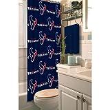 "Houston Texans Decorative Bath Collection Shower Curtain, 72"" x 72"""